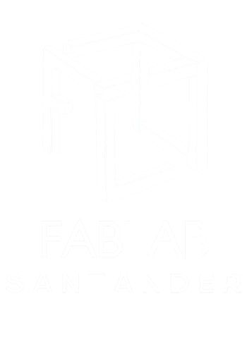 LOGO FABLAB SANTANDER BLANCO